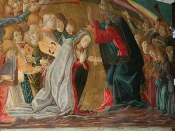 L'Incoronazione della Vergine (particolare) di Sandro Botticelli