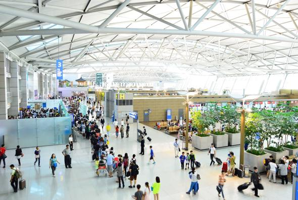 l'Incheon International Airport di Seul, in Corea del Sud.