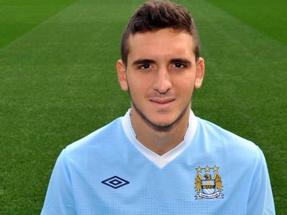 Andrea Mancini ai tempi delle giovanili del Manchester City
