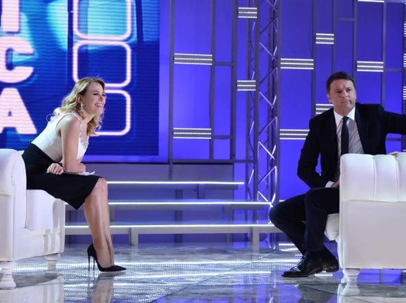 D'Urso e Renzi a Domenica Live (Ansa)