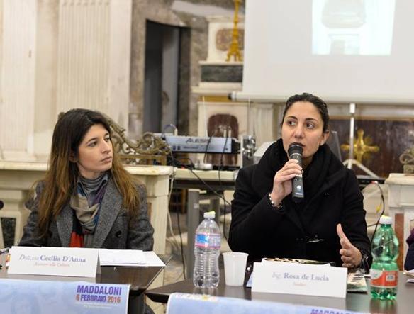Rosa De Lucia (a destra) e a sinistra l'assessore Cecilia D'Anna