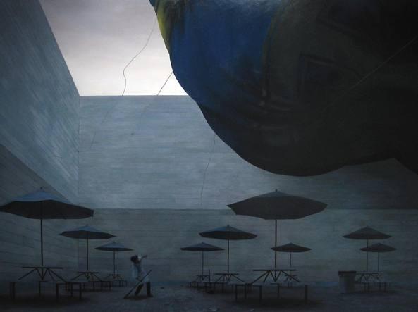Particolare di �Alejandro�, opera dell'artista americana Anna Conway