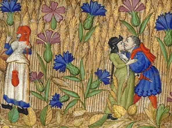 Una scena tratta da Libro d'Ore (XV secolo) Biblioth�que nationale de France, Parigi