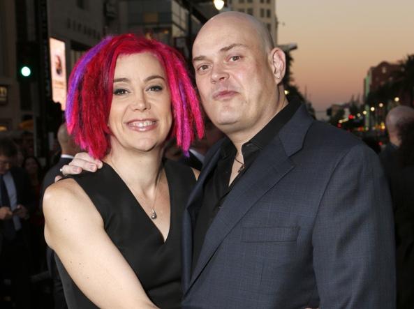 Lana e Andy (ora Lily) Wachowski nell'ottobre 2012 (Ap)