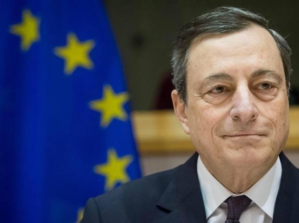 Il presidente della Bce Mario Draghi (Ansa/Lecocq)