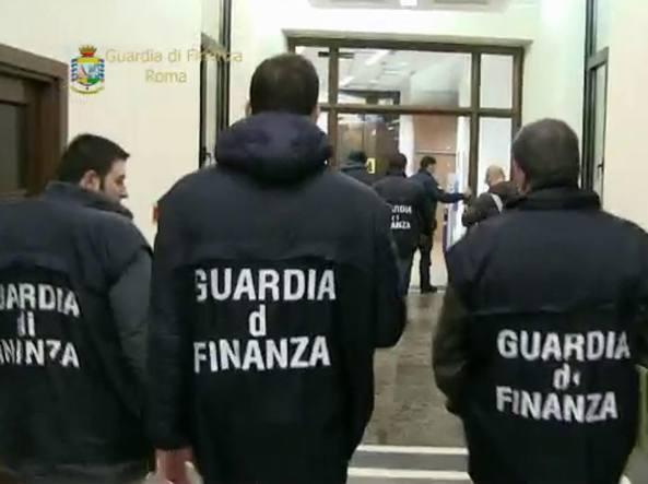 La Guardia di Finanza alla sede della direzione generale Anas (Mario Proto)