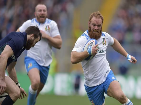 Gonzalo Garcia in azione contro la Scozia (LaPresse)