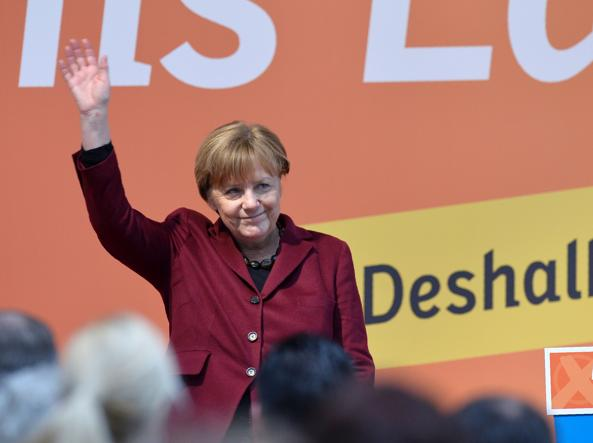 La cancelliera tedesca Angela Merkel, 61 anni, leader della Cdu
