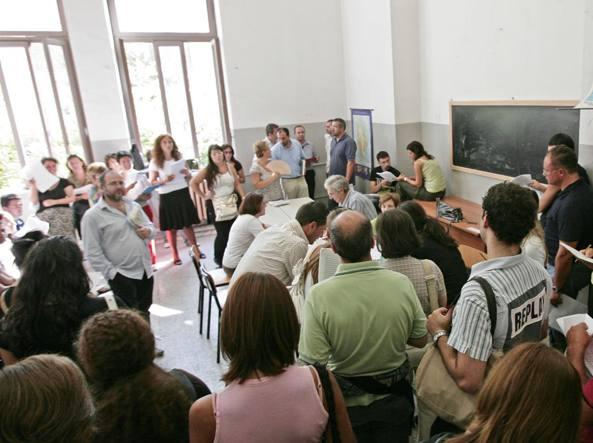 Il giorno delle nomine dei professori in una scuola di Roma (Jpeg)