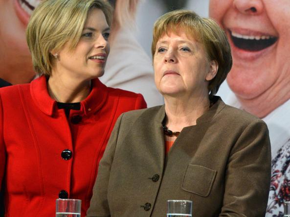 Angela Merkel e la candidata Cdu Julia Kl�ckner