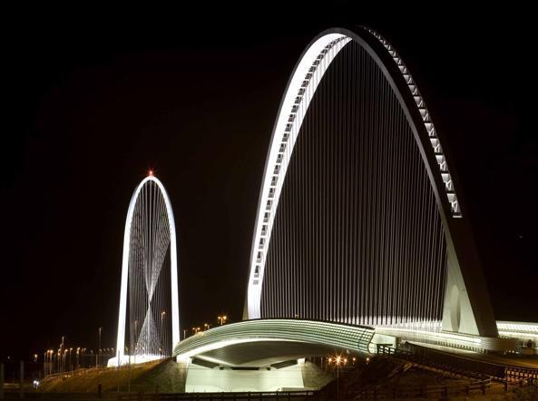 Il ponte di Santiago Calatrava a Reggio Emilia