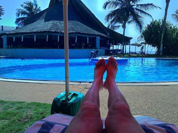 Foto di Roccio in uno dei resort attaccati dai terroristi (da Facebook)