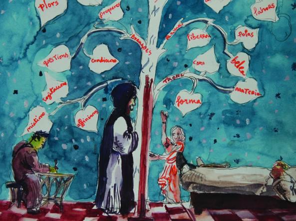 Opera dell'artista Santi Moix esposta nel giugno scorso al Circolo dei Lettori di Torino (Foto courtesy dell'artista)