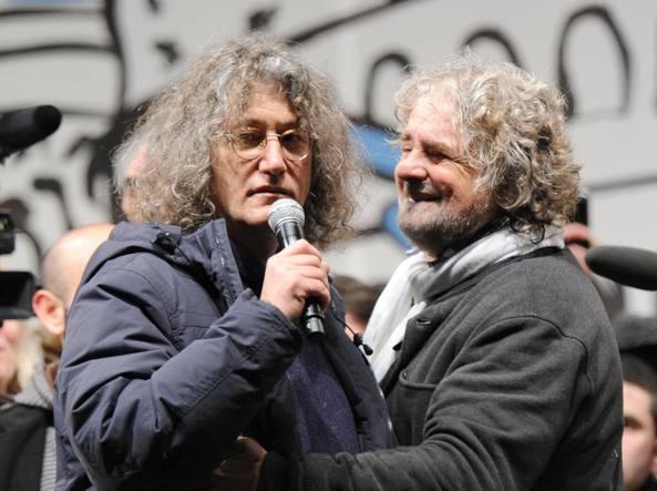 Casaleggio e Grillo (Ansa)
