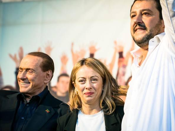 Berlusconi, Meloni e Salvini (LaPresse)