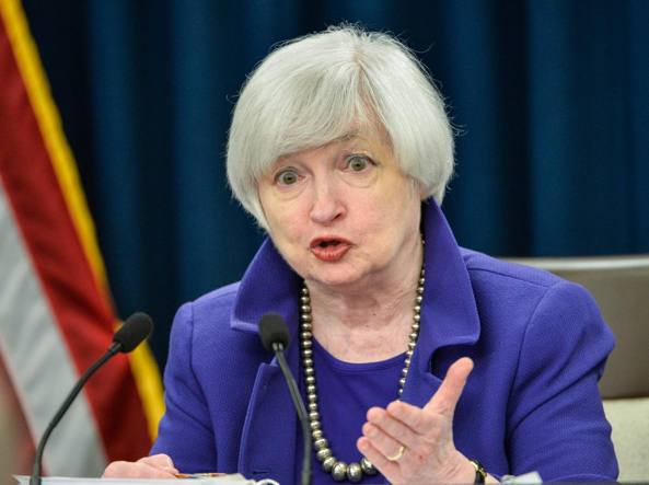 La presidente della Fed, Janet Yellen
