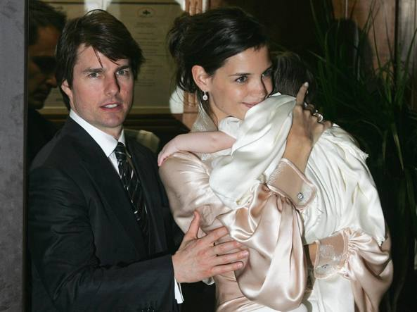 Tom Cruise e Katie Homes (Afp)