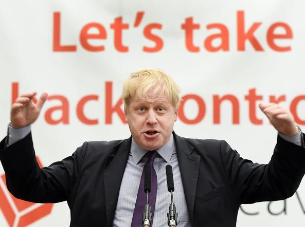 Il sindaco di Londra Boris Johnson, 51 anni, euroscettico