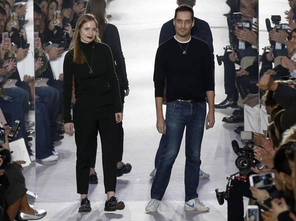 Serge Ruffieux e Lucie Meier, creativi di Dior (Afp)
