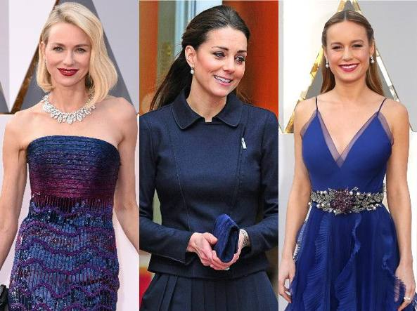 Da sinistra Naomi Watts, Kate Middleton e Brie Larson