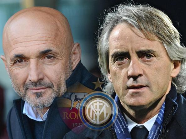 Luciano Spalletti e Roberto Mancini (Ansa)