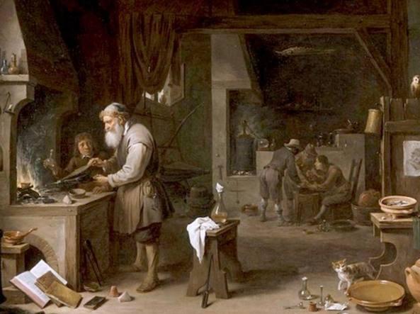 David Teniers il Giovane, L'alchimista (1649)