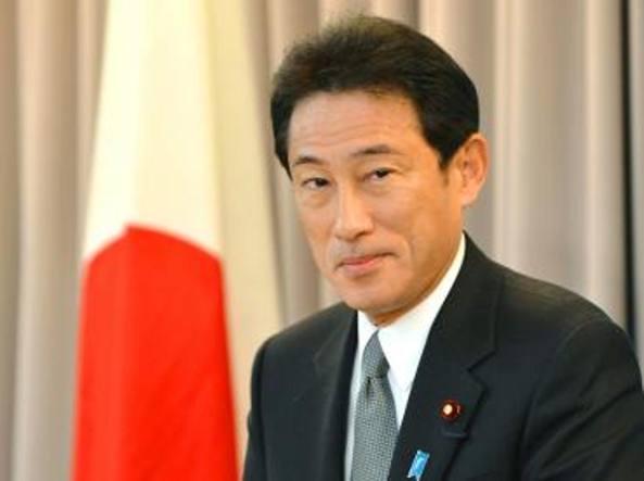 Il ministro degli Esteri del Giappone Fumio Kishida oggi incontra Gentiloni a Roma