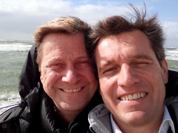 Da sinistra, Michel Mronz e Guido Westerwelle+