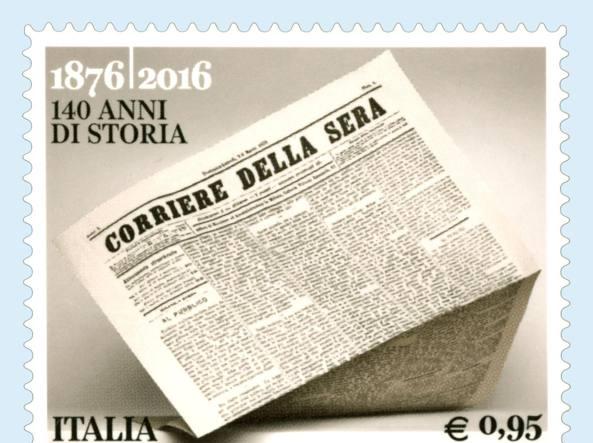 Il francobollo da 0,95 euro disegnato da Gianluigi Colin e Brigitte Niedermaier