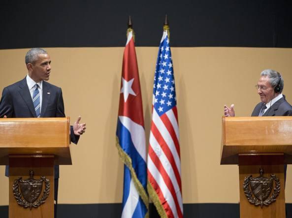 La conferenza stampa di Raul Castro e Barack Obama (Ap)