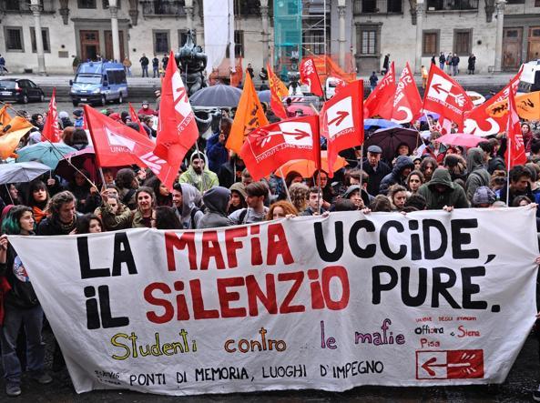 La manifestazione di Messina (Ansa)