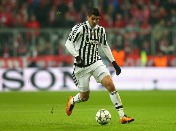 Il coast to coast di Morata all'Allianz Arena, mercoledì scorso (Getty Images/Bongarts/Hassenstein)