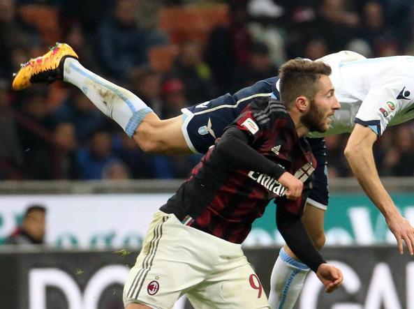 Un'immagine di Milan-Lazio (Ansa)