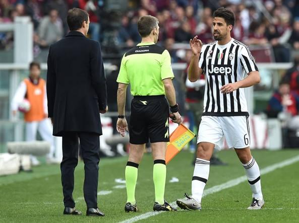 Juventus, Khedira squalificato per due giornate