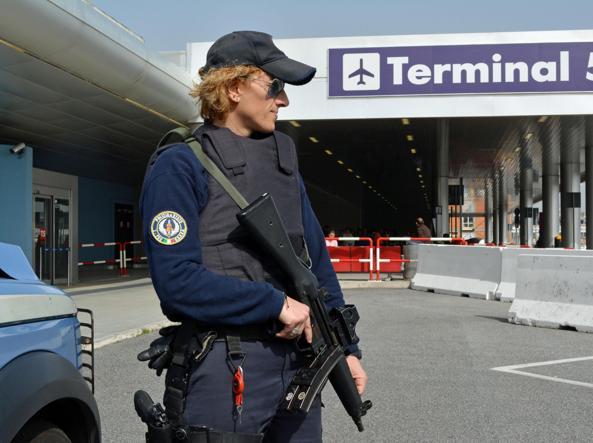 Massima allerta per i siti italiani come l'aeroporto di Fiumicino