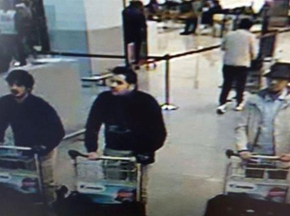 i tre sospetti attentatori di Bruxelles (Ap)