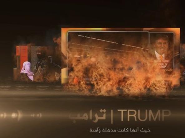 Un frame del filmato diffuso da Isis