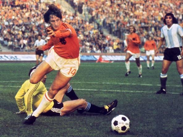 26 giugno 1974, ai Mondiali contro l'Argentina (Afp)