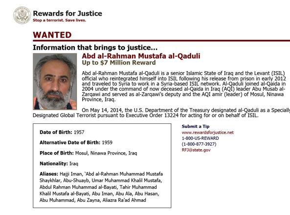 L'identikit di Abd al-Rahman Mustafa al-Qaduli