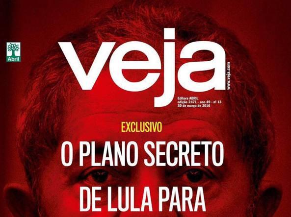 La copertina del settimanale «Veja»