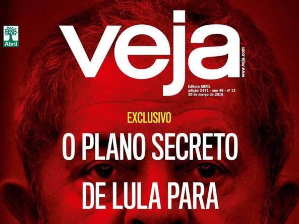 La copertina di «Veja»