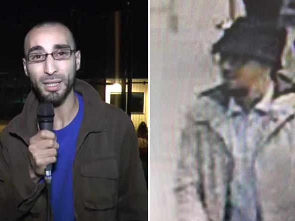 Bruxelles, l'uomo con il cappello potrebbe essere il giornalista Faycal Cheffrou