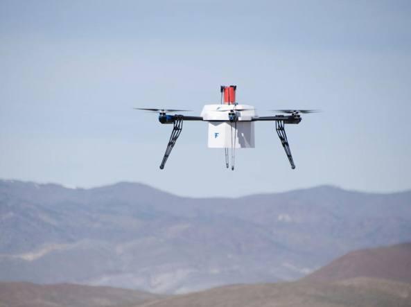 Il drone utilizzato per la consegna (da Flirtey)