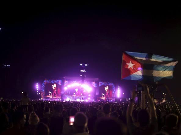 Il concerto dei Rolling Stones a L'Avana (Reuters/Marcelino)