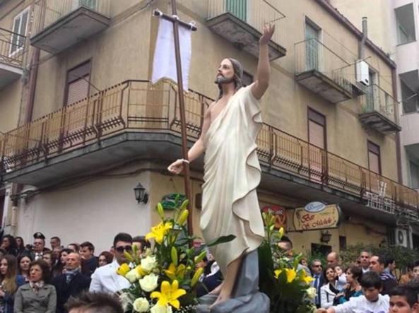La processione del 2014 del Venerdì Santo a San Michele di Ganzaria