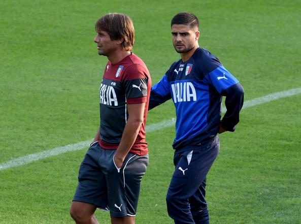 Conte e Insigne (Getty Images)