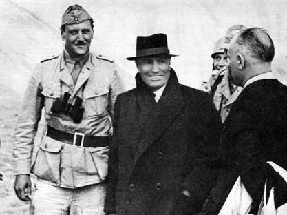 Otto Skorzeny con Benito Mussolini