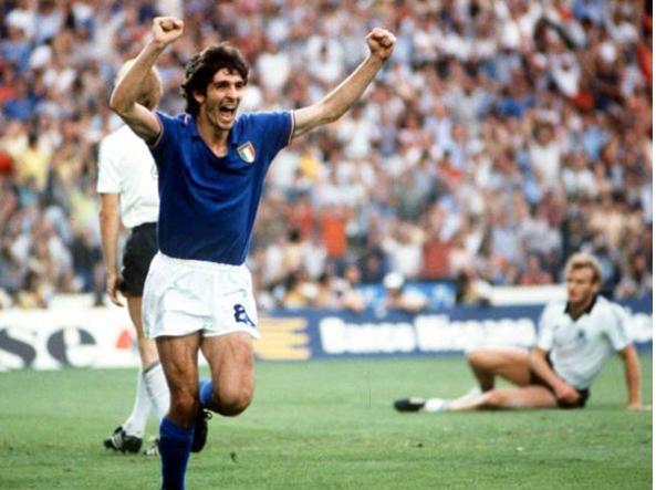 Paolo Rossi nella finale di Spagna 82