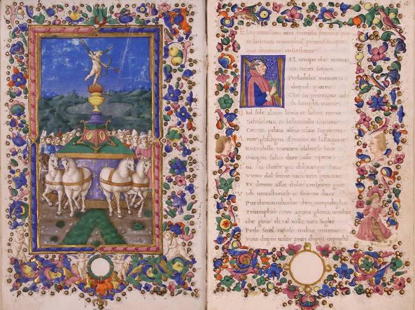 Petrarca, Trionfi, seconda metà XV sec. (Biblioteca Corsiniana, 55 K 10)
