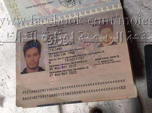 Regeni il passaporto nel covo che incastra gli apparati - Giulio iacchetti interno italiano ...